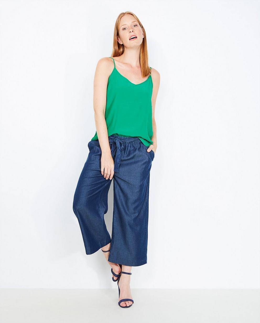 Jupe-culotte en jeans  - doux lyocell mélangé - JBC